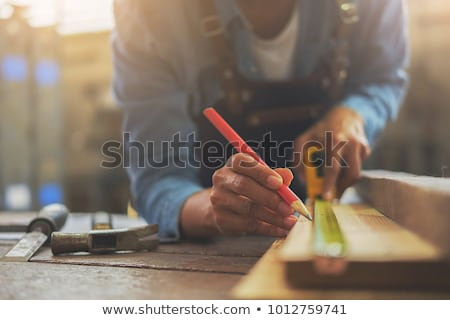 carpenter at work with workbench Stock photo © photography33