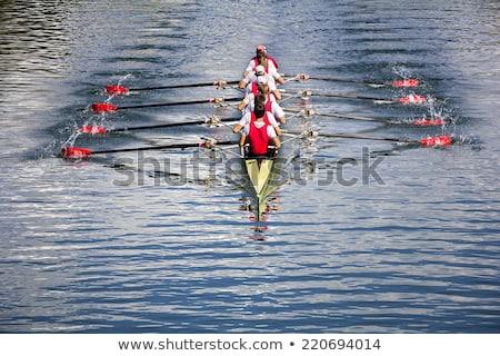 Evezés útvonal nyolc versenyzés hajók űr Stock fotó © smuki