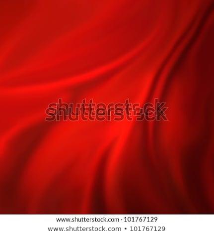 shiny red satin fabric background Stock photo © ozaiachin