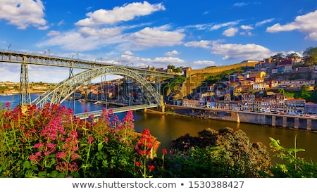 Stock photo: old town of Porto at sunset, Portugal
