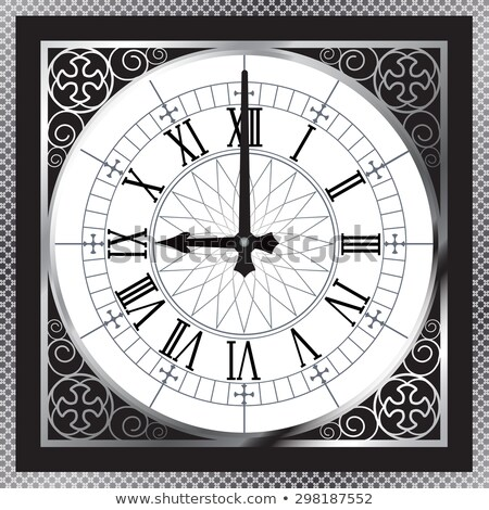 House icon with clock face Stock photo © cherezoff