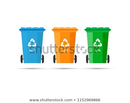 Recycle Bin Red Vector Icon Design Stock photo © rizwanali3d