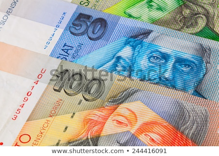 Different Slovakian   banknotes from on the table Stock photo © CaptureLight