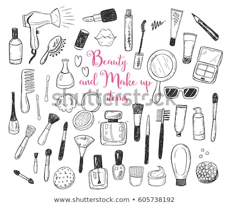 Hand drawn Beauty and makeup icons set Stock photo © netkov1