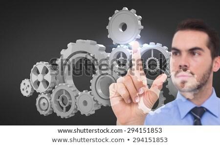 üzletember · Föld · kéz · textúra · kép · üzlet - stock fotó © wavebreak_media