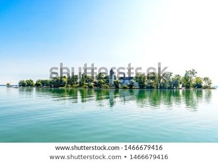 sailboat at the bavarian lake chiemsee germany stock photo © kb-photodesign
