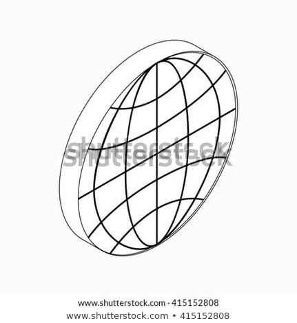 Föld földgömb embléma ikon izometrikus 3D Stock fotó © ylivdesign