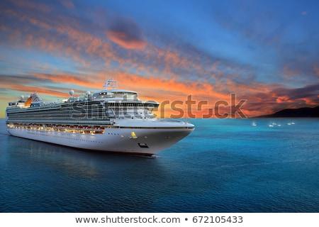Ship At Sunset Stock photo © franky242
