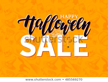 Autumn Discount Halloween Poster Isolated Stock photo © barbaliss