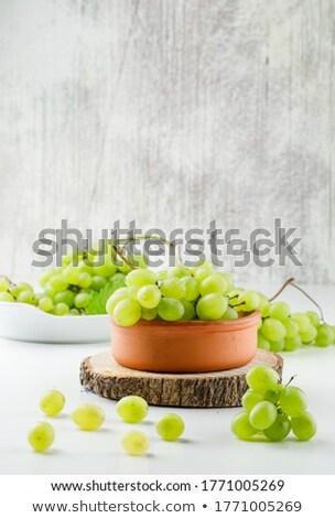 新鮮な ブドウ プレート 青 食品 パーティ ストックフォト © YuliyaGontar
