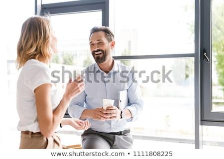 女性実業家 · ビジネスマン · 飲料 · コーヒー · カフェ · 男 - ストックフォト © dolgachov