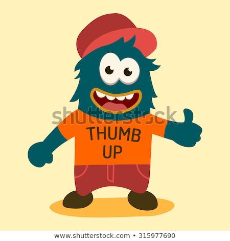 Cartoon Ogre Thumbs Up Stock photo © cthoman