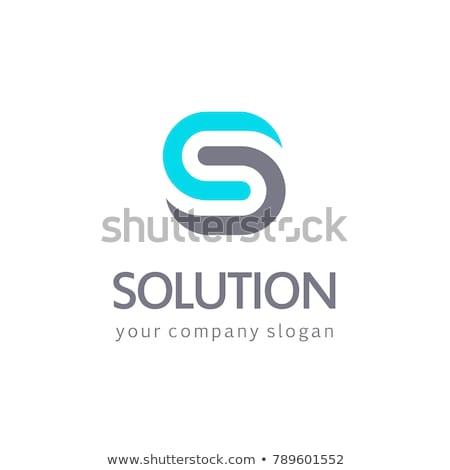 blue symbol s logo letter logotype vector sign stock photo © blaskorizov