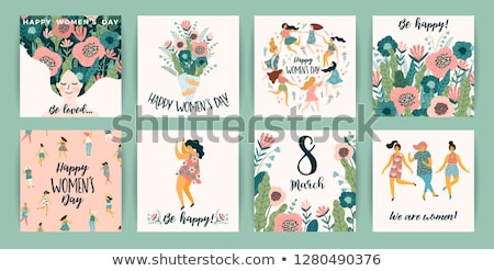 Eighth March Card With Flowers Stock photo © barbaliss