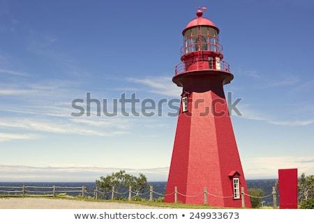 La vuurtoren Quebec Canada licht zee Stockfoto © benkrut