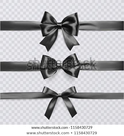 Photo stock: Noir · ruban · isolé · transparent · papier