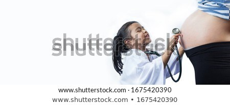 médecin · sensation · enceintes · estomac · femme · fille - photo stock © lopolo