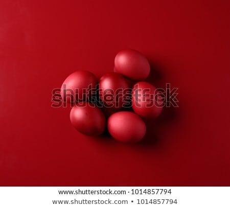 яйцо красный коричневый куриные продовольствие аннотация Сток-фото © lichtmeister