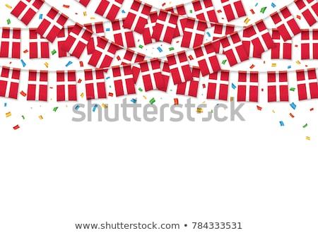 Denemarken vlag witte achtergrond reizen print Stockfoto © butenkow