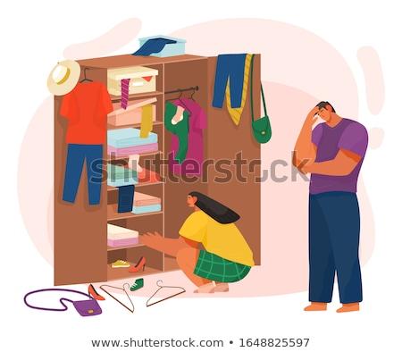 жизни пару одежды шкаф вектора Сток-фото © robuart