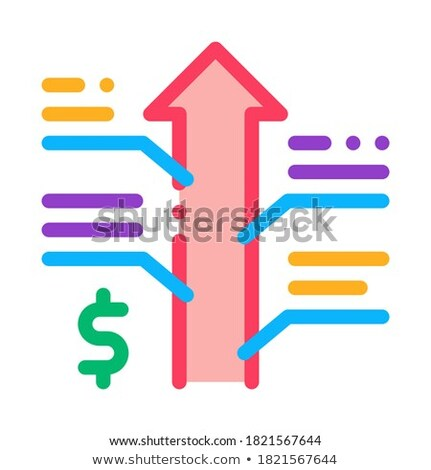 exchange rate appreciation icon vector outline illustration Stock photo © pikepicture
