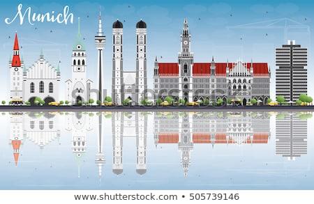 Мюнхен Skyline серый зданий Blue Sky Сток-фото © ShustrikS
