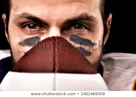 Sportsman Isolated, Guy Play in American Football Stock photo © robuart