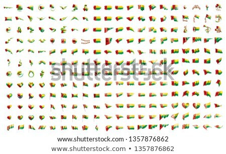 very big collection of vector flags of the guinea Stock photo © butenkow