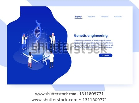 Medical services - modern colorful isometric web banner Stock photo © Decorwithme