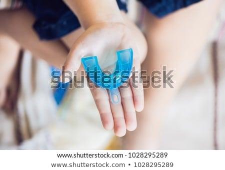 Edad nino entrenador creciente dientes corregir Foto stock © galitskaya