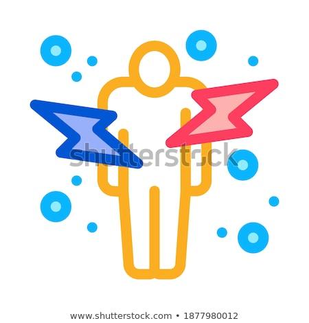 человека икона вектора иллюстрация знак Сток-фото © pikepicture