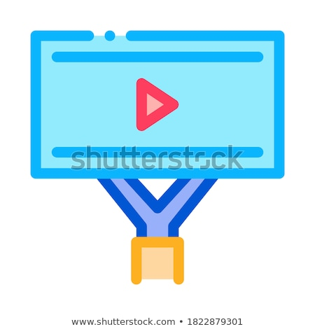 installed video ads icon vector outline illustration Stock photo © pikepicture