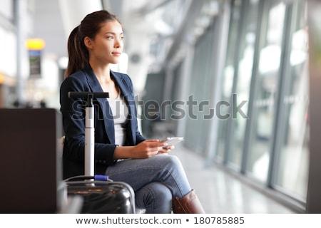 Viaje mujer aeropuerto jóvenes Asia Foto stock © Maridav