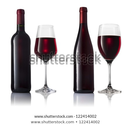 2 眼鏡 赤ワイン オーガニック 製品 ストックフォト © Anneleven