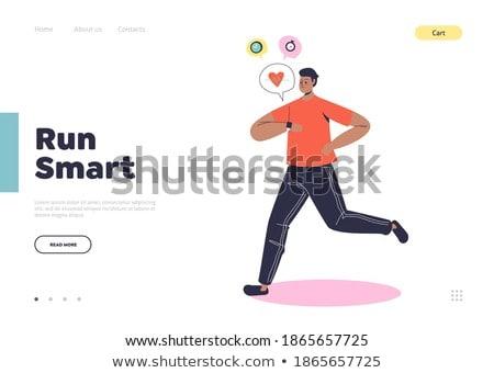 Smartwatch health tracker concept landing page. Stock photo © RAStudio