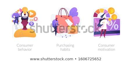 потребитель мотивация аннотация поведение продажи роста Сток-фото © RAStudio