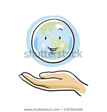 человека · рук · прикасаться · зеленая · трава · солнце · лист - Сток-фото © mycola