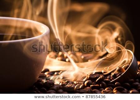 Taze lezzet kahve geleneksel içmek arka plan Stok fotoğraf © OleksandrO