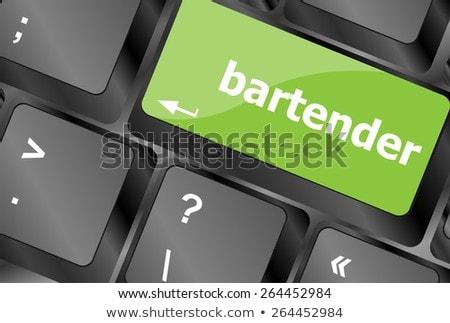 Message Bartender On Enter Key Of Keyboard Сток-фото © fotoscool