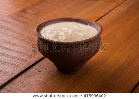 yogurt · taza · aislado · blanco · alimentos · cocina - foto stock © bdspn