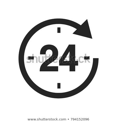 24 szolgáltatások fekete vektor gomb ikon Stock fotó © rizwanali3d