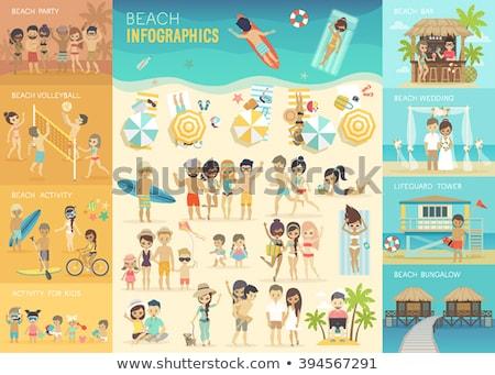 Beach infographics Stock photo © netkov1