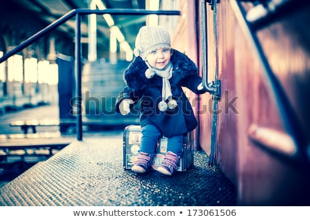 portrait of little girl in furry hat 2 Stock photo © Paha_L