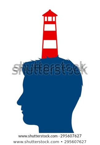 Lighthouse balanced on a mans head Stock photo © adrian_n