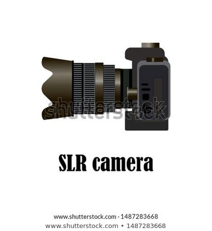 Vintage teleobiettivo lenti 1970 isolato bianco Foto d'archivio © peterguess