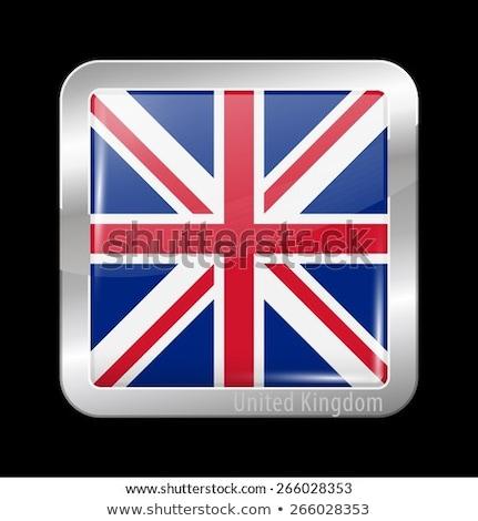 Icon vierkante vorm vlag witte Quebec Stockfoto © Ecelop