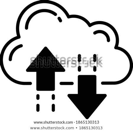Nube stoccaggio vettore icona isolato bianco Foto d'archivio © smoki