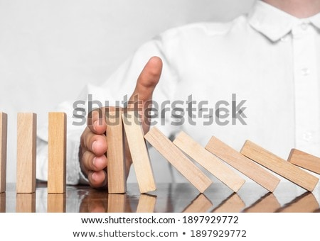 Risco estratégia negócio empresário mão Foto stock © Freedomz