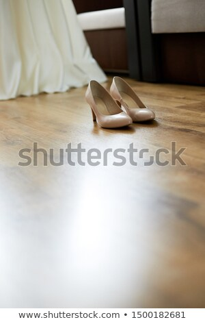 Estilista casamento branco noiva sapatos tiras Foto stock © Illia