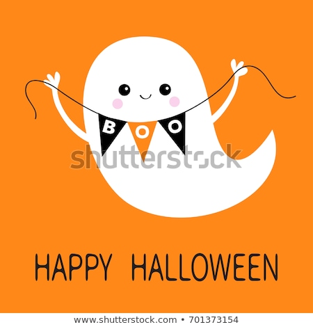 Korkutucu mutlu halloween hayalet yüz dizayn Stok fotoğraf © SArts
